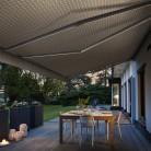 Toile décorative antisalissures pour store extérieur