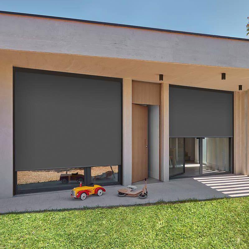 Store vertical extérieur avec guide