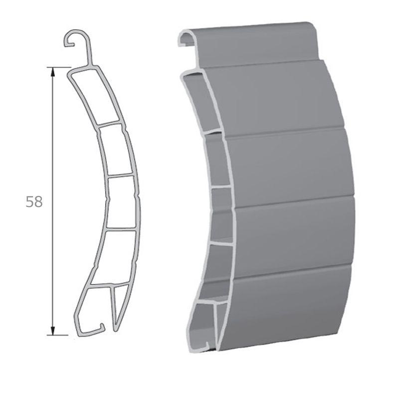 Lame de 58mm PVC extrudée