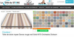 Toile de store rayee davos 6173 red rouge beige ivoire orchestra dickson