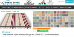 Toile de store rayee windsor 6272 red rouge bordeaux beige orchestra dickson