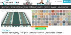 Toile de store rayure sydney 7459 green vert turquoise ivoire orchestra de dickson
